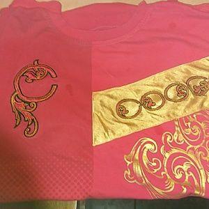 Coogi RARE Red on Red Mens Tee Shirt XXXL